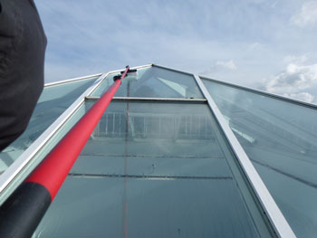 commercial window cleaning - skylight