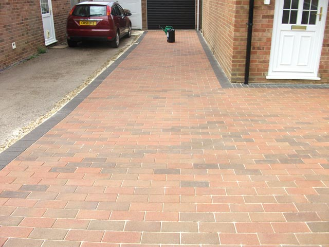 sealed block paving - before