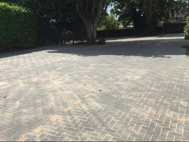 clearview - car park power washed & re-sanded