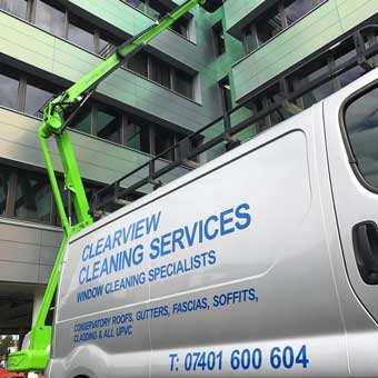 clearview cleaning - cherry picker 1